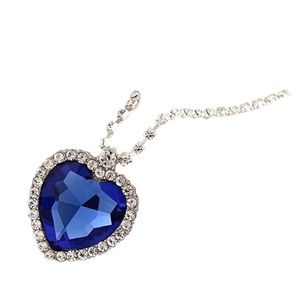 "Titanic blue ""Heart of the Ocean"" necklace!!"